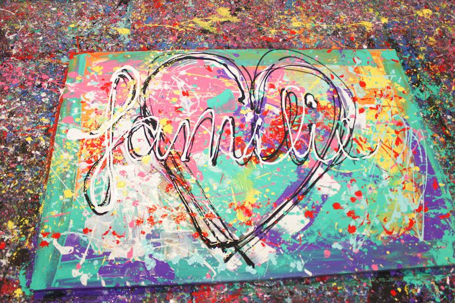 jacksart, gezinsschilderij, familiekunst, Apeldoorn, uitje met Kinderen, creatief, zelf maken, verven, schilderen, dagje weg met kinderen, leuk uitje, art, familiekunst,