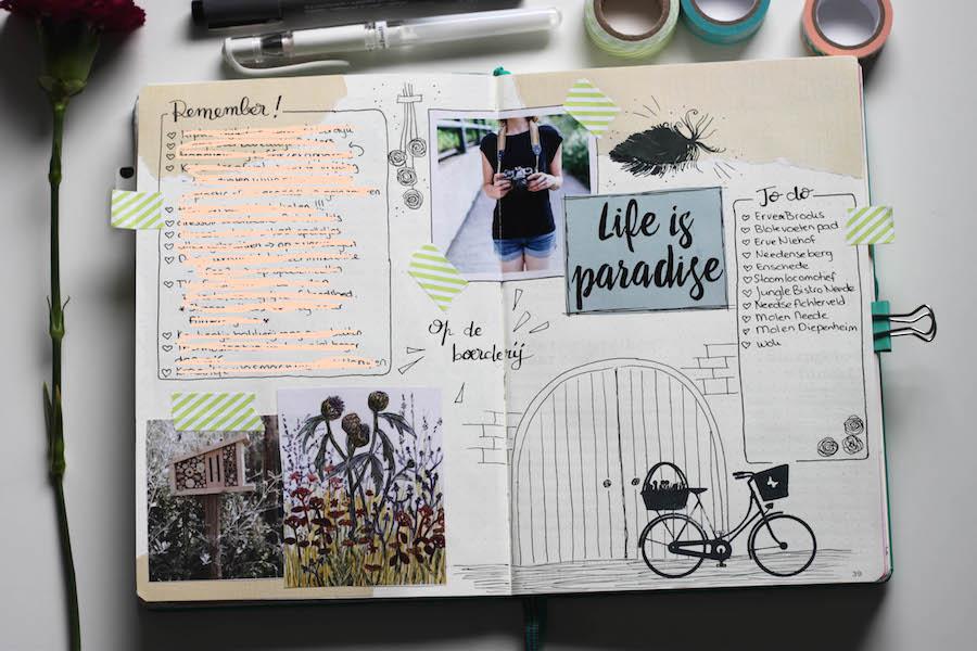 bullet journal, dagboek, herinneringen, creatief, leuchttrum 1917, hand lettering, journalling