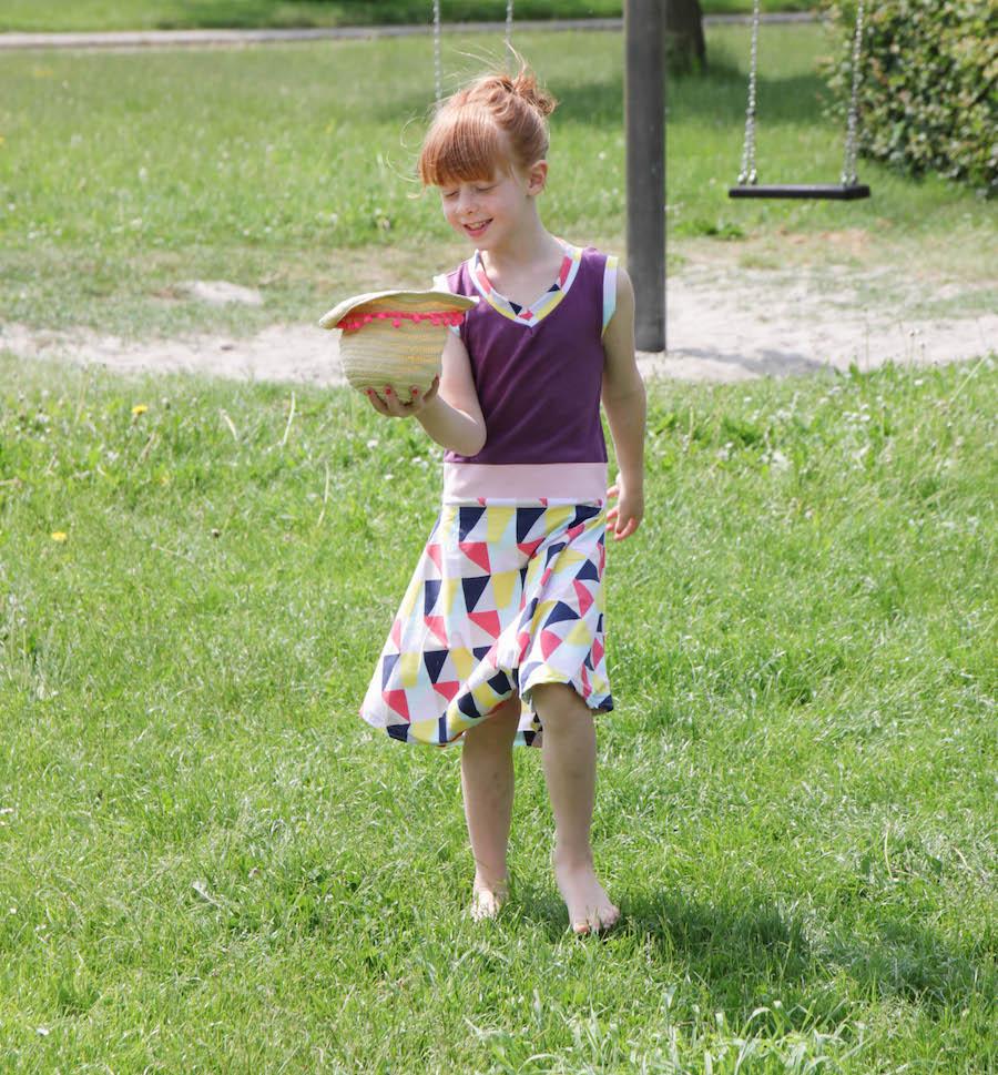 zomerjurkje, recykleren, jurkje van oud shirt, naaien, creatief, diy, sewing, tricot
