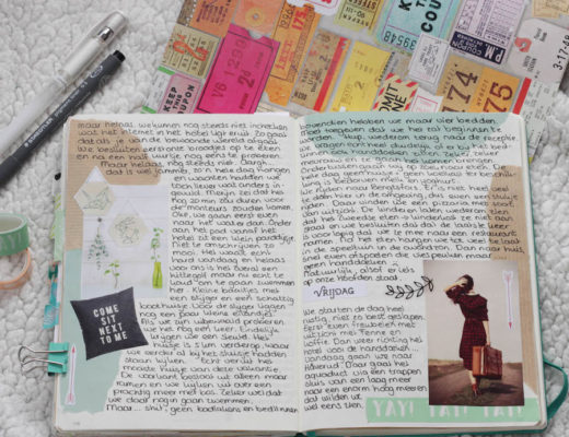 bulletjournal, traveljournal, journaling tijdens de reis Zweden, reisverslag, bujo, journaling, creative journaling