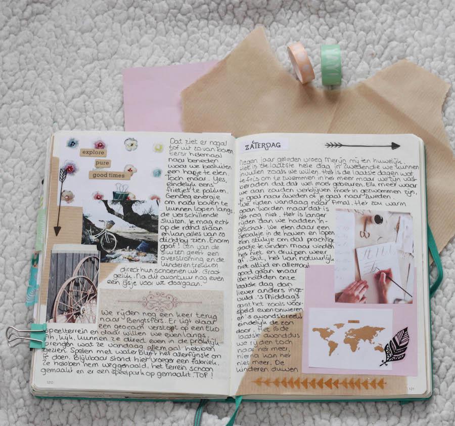 bulletjournal reisverslag, traveljournal, journaling tijdens de reis Zweden, reisverslag, bujo, journaling, creative journaling