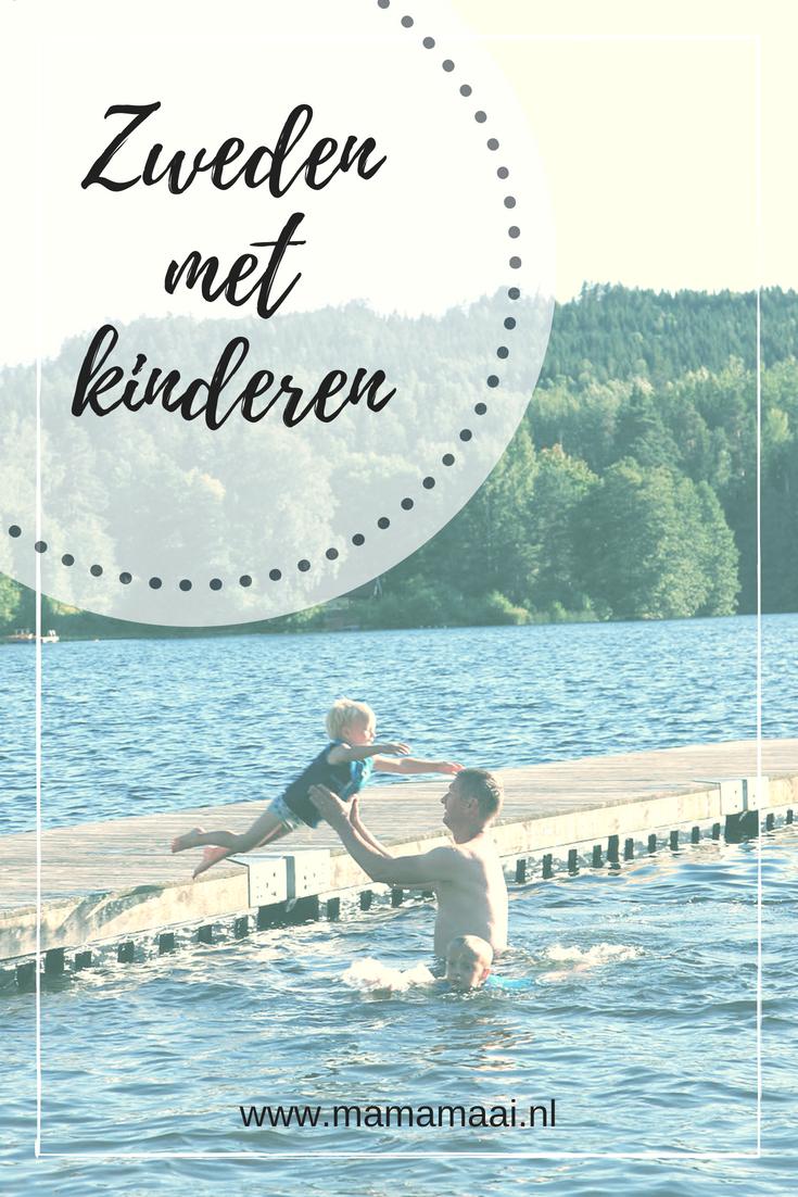 Zomervakantie naar Zweden, reizen met jonge kinderen, Waterland, Eindeloos zwemmen in meren, natuurwater