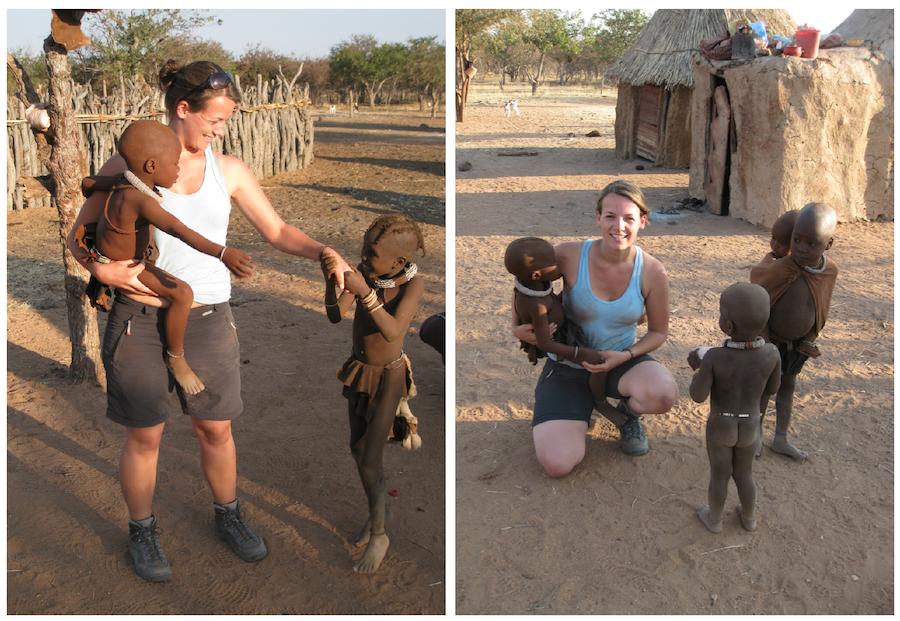 afrika reis, namibie, himbas, reizen