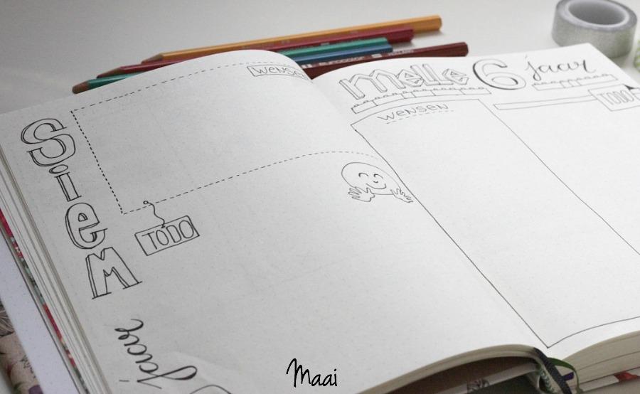 bullet journal, bullet journal de handleiding, journaling, bujo