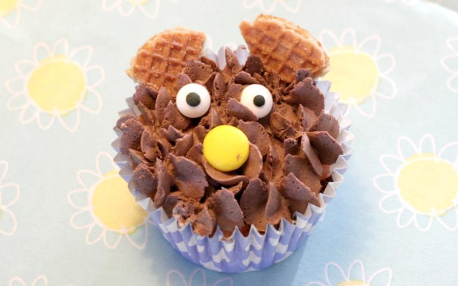 beren cupcake, chocobotercreme, chocolade botercreme, cupcake