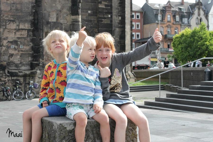 Eifel, Duitsland, Moezel, Trier, moezel met kinderen