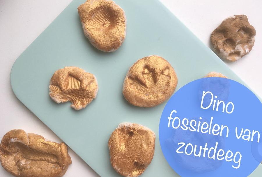 DIY fossielen maken, zoutdeeg, werkjes, dinosaurus knutselen, creatief met peuters of kleuters, crafts for kids