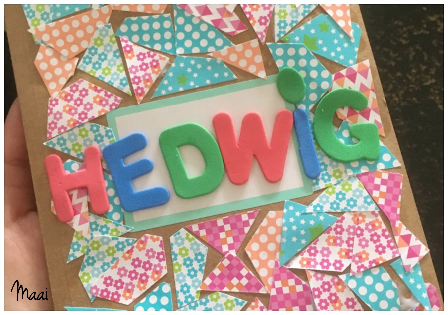 notitieboekje mozaïeken, juffencadeau, juffendag, moederdagcadeau, knutselen met kinderen, crafts for kids