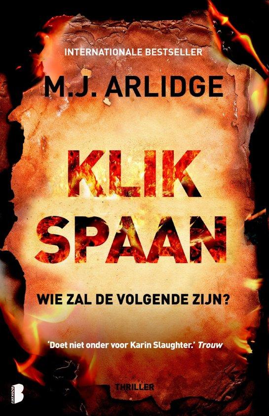 klikspaan, A.J. Arlidge, Helen Grace thriller, boek, review