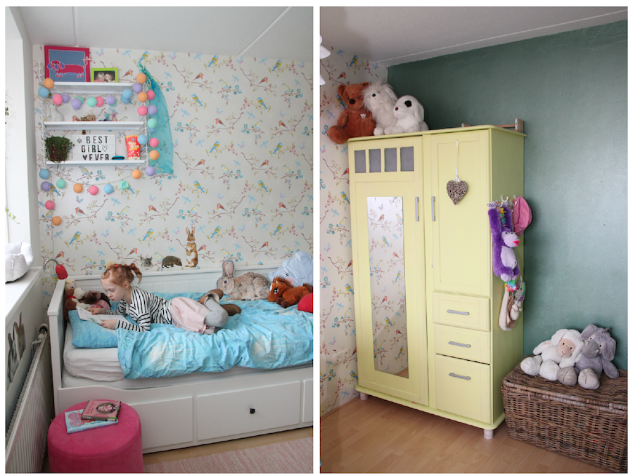 make over kinderkamer, grote meidenkamer, ikea bed, meiden kamer, kinderkamerstyling
