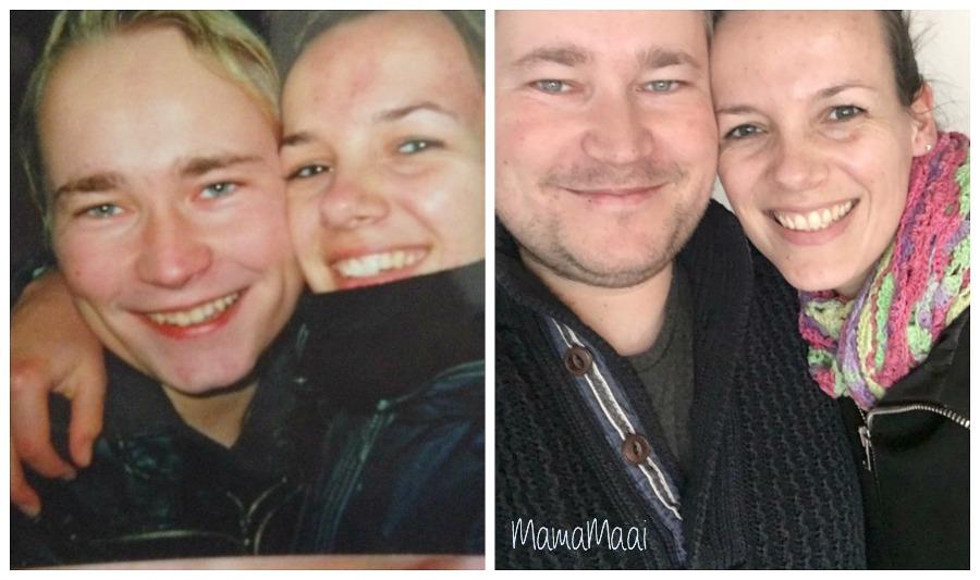 Zie hier wat 10 jaar en een lading kroost met je doet. Zoek de verschillen :)