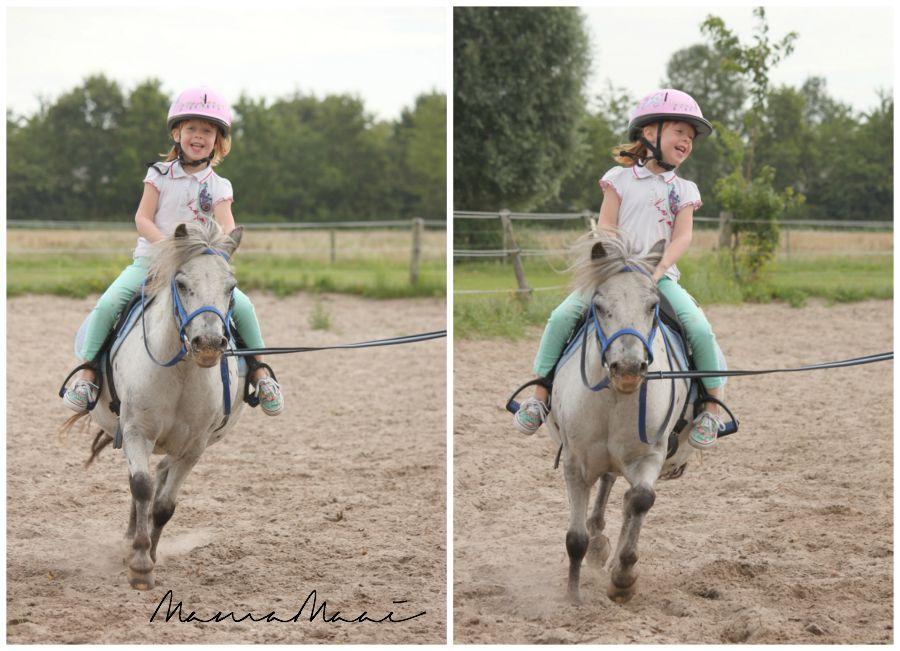 kleuter, paardrijden