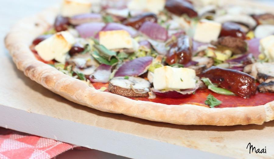 je eigen pizza zelf beleggen, pizza, vegetarisch