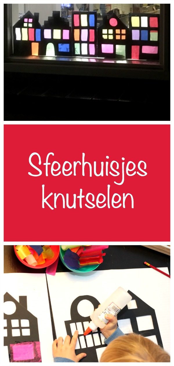 sfeerhuisjesknutselen, sinterklaas, winterknutsel, crafts for kids,