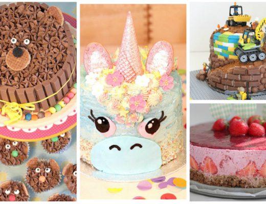 taartinspiratie, eenhoorn taart, regenboog taart, din taart, kit kat taart