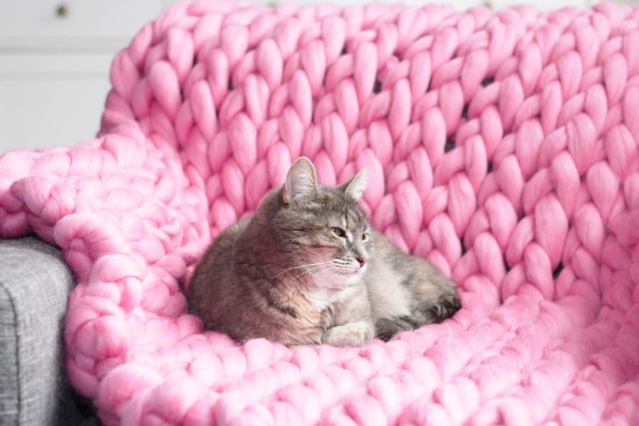 xxl wol, lintwol, chuncky knit blanket