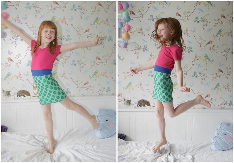 recykleren, snel jurkje van oud t shirt maken voor mijn dochter, kinderjurkje naaien