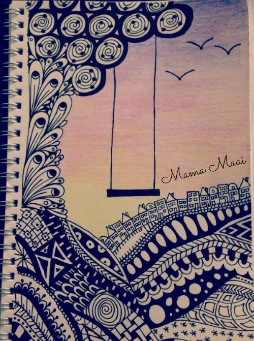 zentengles, doodles, tekenen