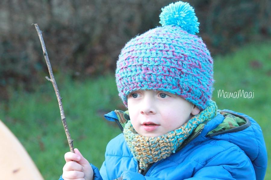 DIY colsjaal, warme kindersjaal maken