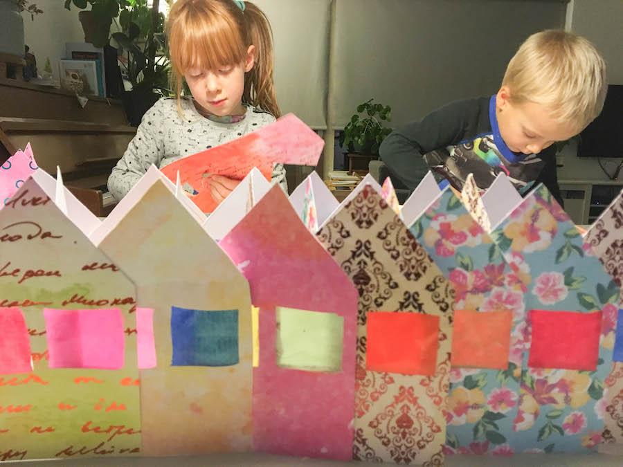 kerstkaarten maken met kinderen, knutselen kerst, christmas craft, knutselen met papier