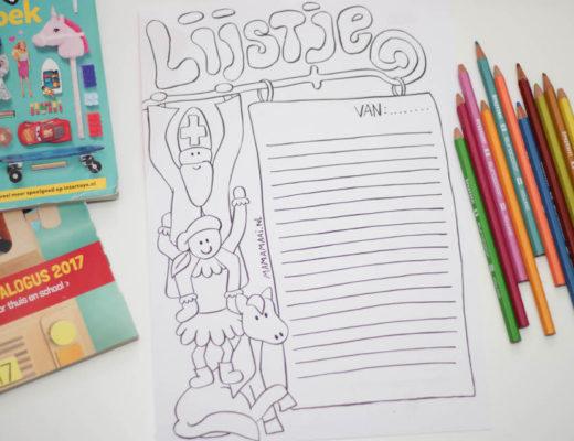 Sinterklaas, verlanglijstje, gratis downloaden sinterklaas verlanglijstje, kleurplaat