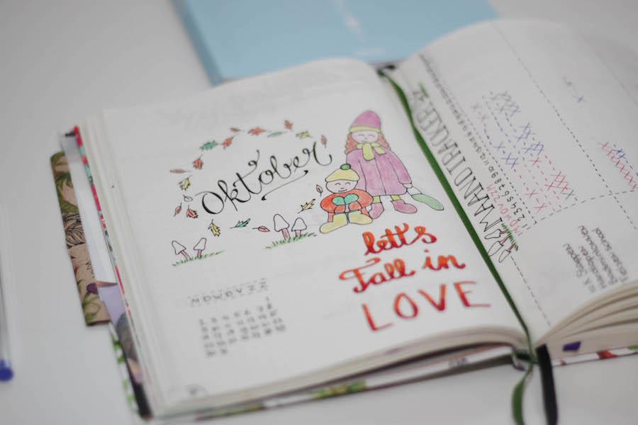 bullet journal, bujo, maandblad oktober, agenda, bullet journal update
