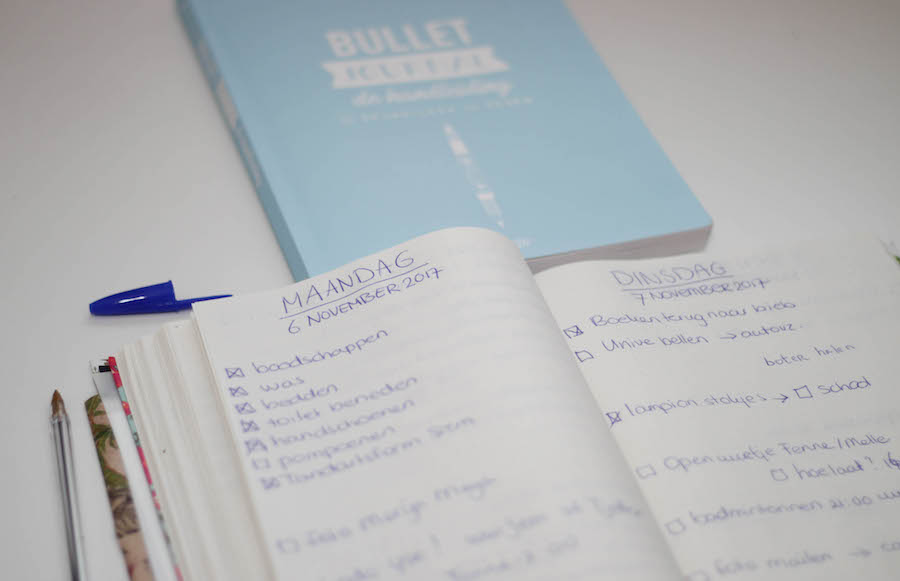 bullet journal, bujo, journalling, agenda, lijstjes, bullet journal update