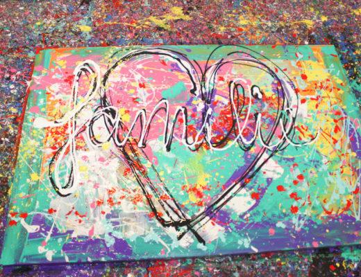 jacksart, gezinsschilderij, uitje met Kinderen, creatief, zelf maken, verven, schilderen, dagje weg met kinderen, leuk uitje, art, familiekunst,