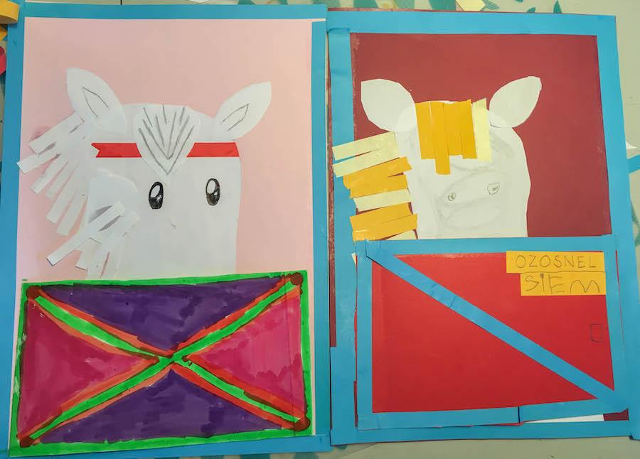 Thema sinterklaas knutselen, paard van sinterklaas knutselen, creatief met kinderen, sinterklaasknuttel, paard van Sinterklaas, kleuters, middenbouw