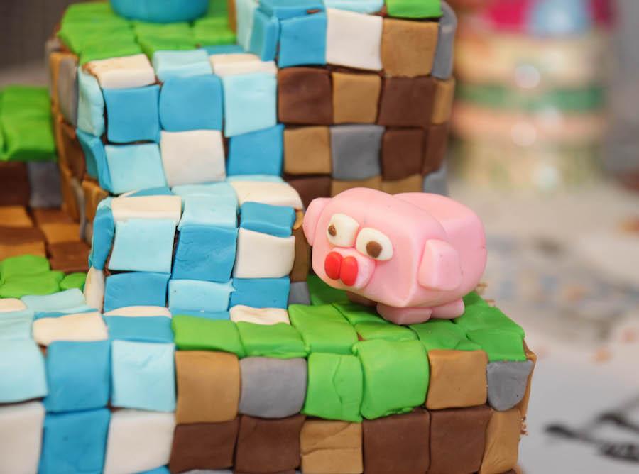 Minecraft taart, kinderverjaardag jongen, 6 jaar, cake, birthday cake boy, minecraft cake, chocolade taart