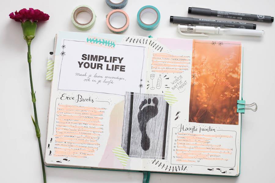 bullet journal, bullet journal dagboek, herinneringen, creatief, leuchttrum 1917, hand lettering, journalling, herinneringen pagina, weekly