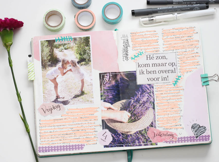 bullet journal, dagboek, herinneringen, creatief, leuchttrum 1917, hand lettering, journalling, bujo, herrineringen pagina,