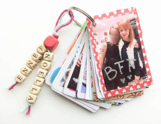 diy bff boekje maken, vriendinnen herinnering, klein cadeautje, afscheidscadeautje beste vriendin, knutselen met kinderen, hp sprocket, vriendschapsboekje