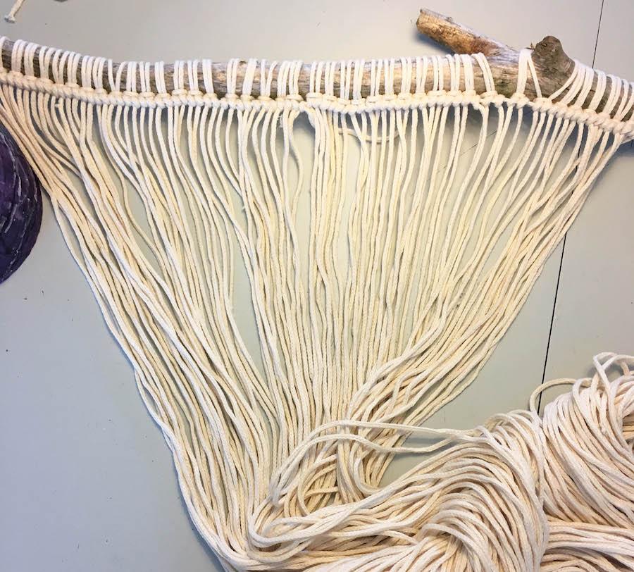 macrame, wallhanging, wandhanger, macrame wandhanger, diy, creatief, knopen,