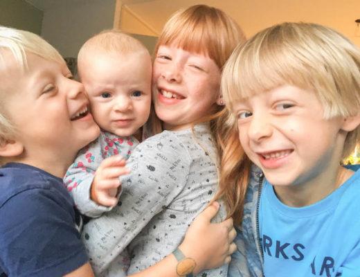 vier kinderen, groot gezin, mama van vier, groot leeftijdsverschil tussen de kinderen