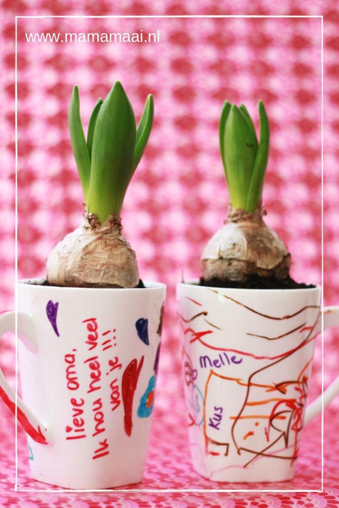 knutselen met kinderen, diy, porselein tekenen, voorjaar in huis, lente