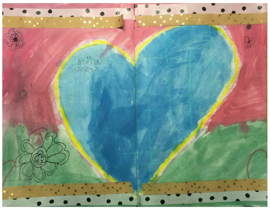 art journal kind, creatief bezig zijn, verven, knutselen