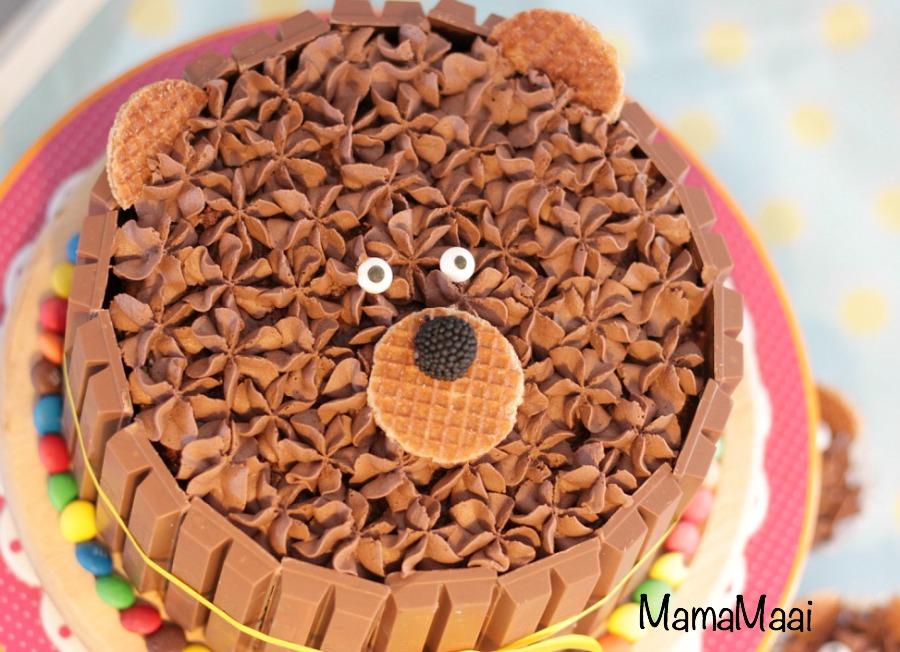 kit kat berentaart, uitkat taart, verjaardagstaart kind
