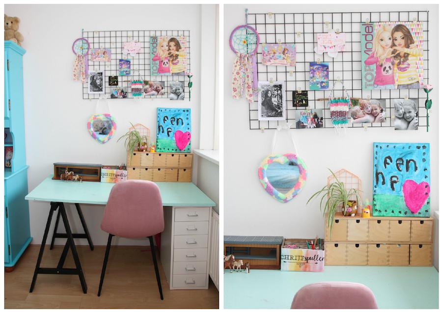 grote meiden kamer, make over kinderkamer, meubels pimpen, meubels opknappen, gekleurde kast, tiener kamer