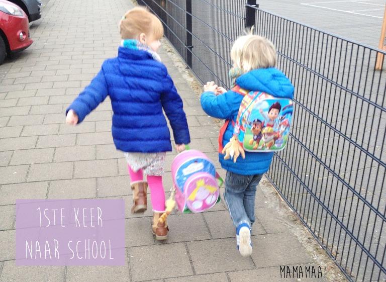 eerste keer naar school
