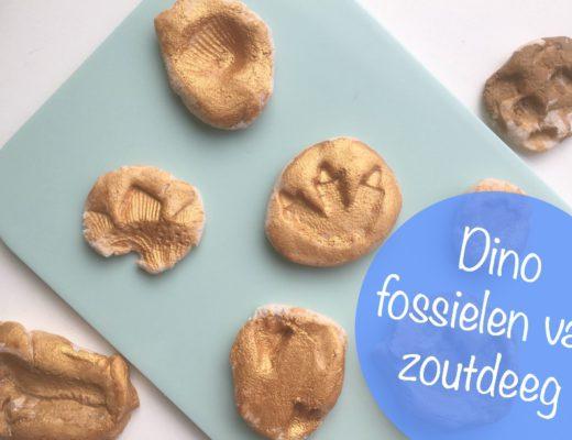 diy fossielen knutselen, zoutdeeg, dino afdrukken maken, crafts for kids, jongens knutselen