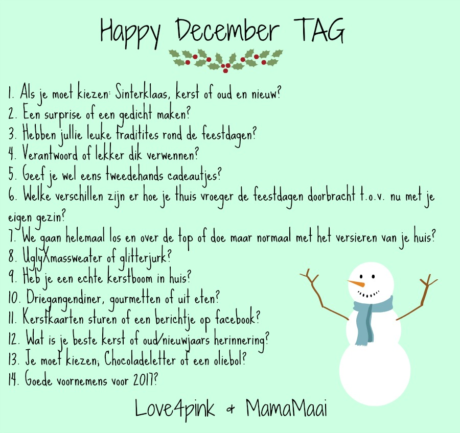 Happy december tag