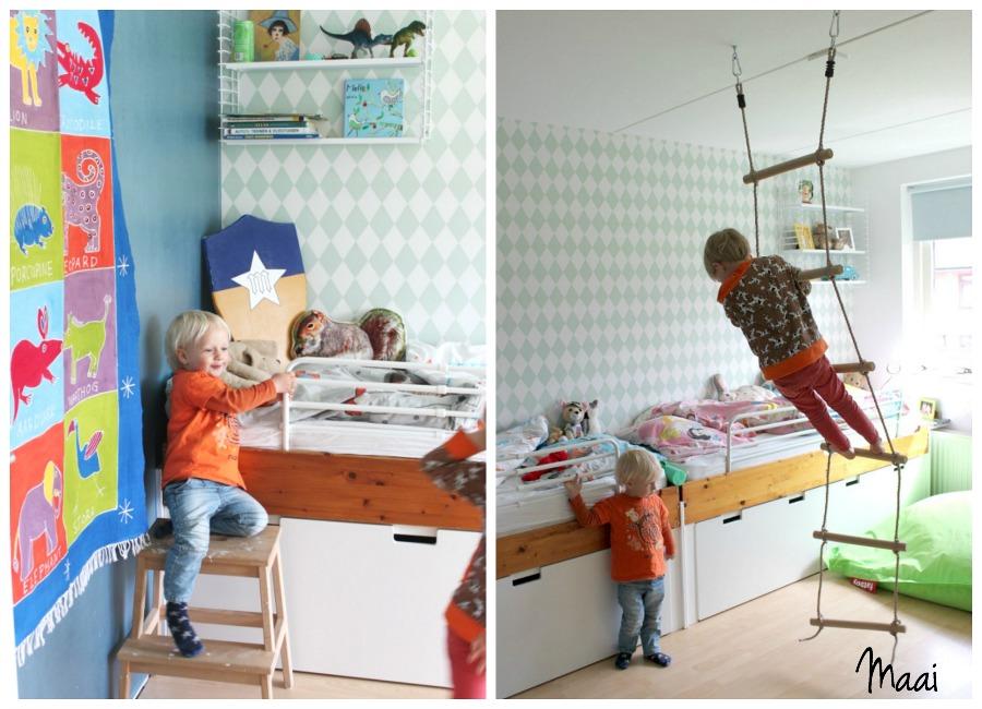 jongenskamer, kinderkamerstyling, binnenkijken, interieur