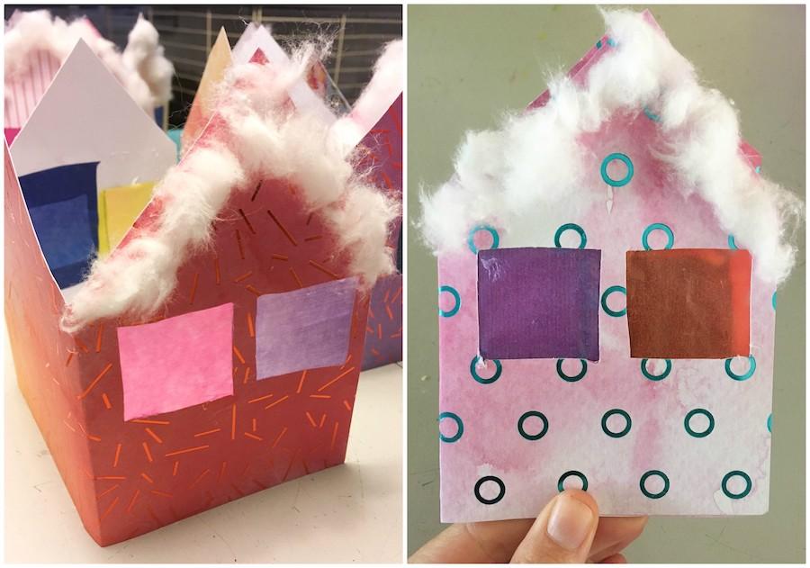 kerst knutselen met kleuters, christmas craft, kerstkaarten maken