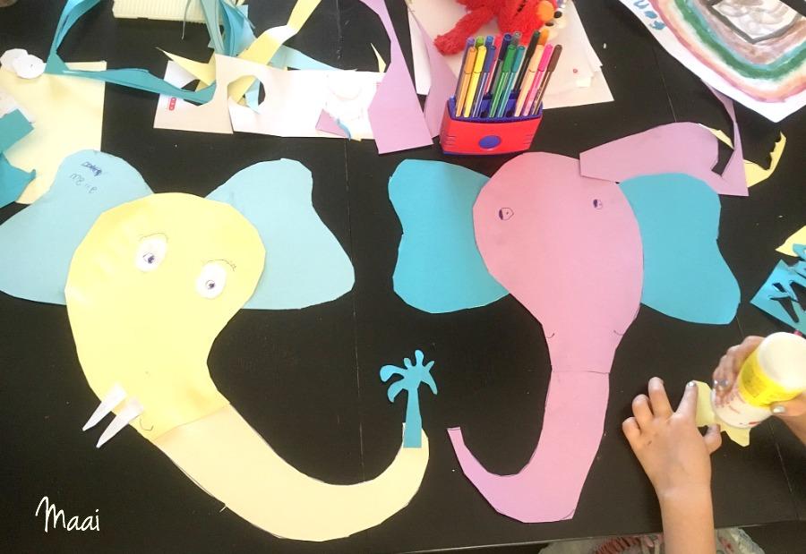 wilde dieren knutselen, knutselen met kinderen, crafts for kids, papier