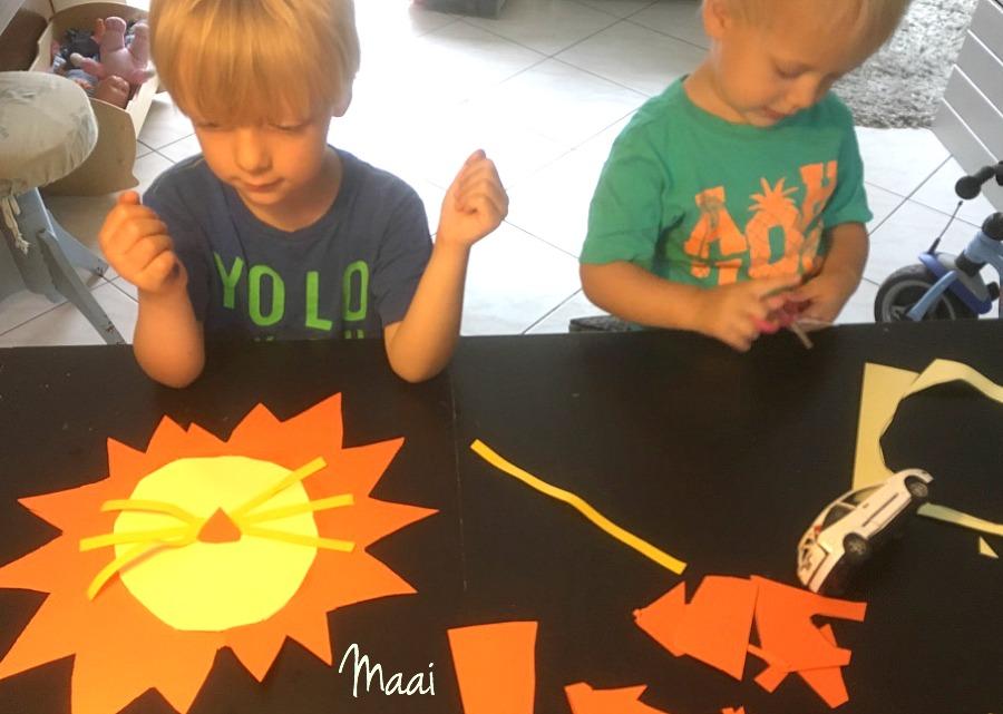 knutselen met kinderen, wilde dieren knutselen, leeuw van papier maken, crafts for kids