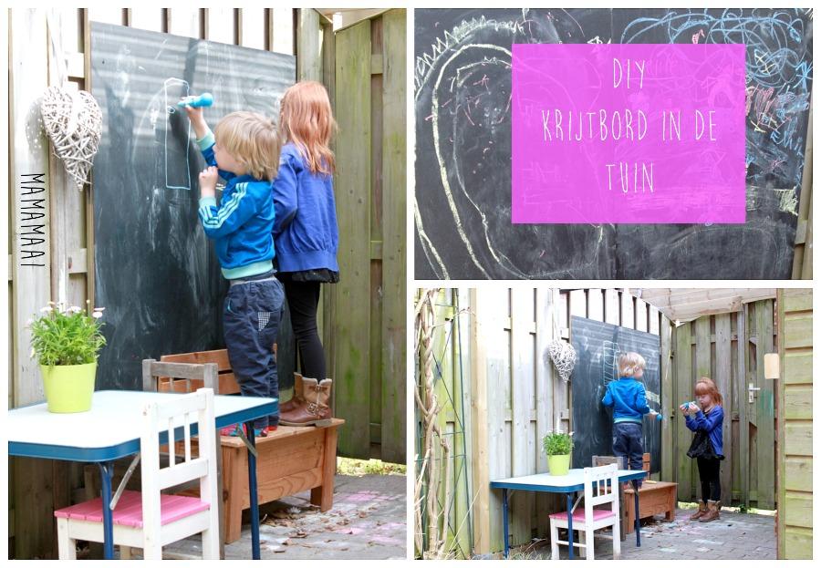 diy schoolbord tuin, krijtbord, schoolkrijt, stoepkrijt