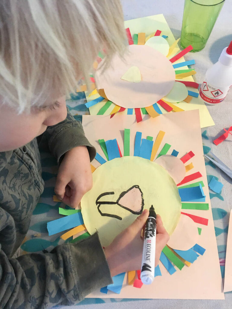 knutselen met kinderen en papier