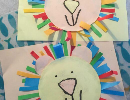 leeuw knutselen van papier met kleuters