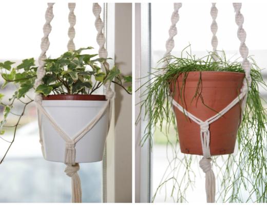 macrame, plantenhangers maken, basis macramé knopen, diy plantenhanger, zelfgemaakt